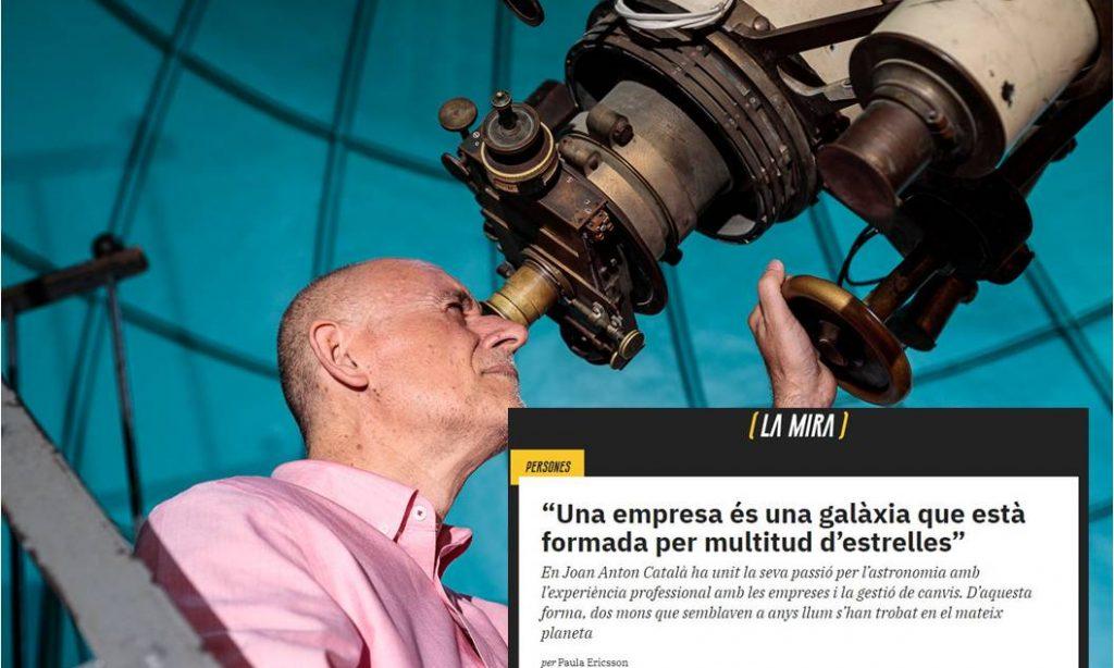 La combinació empresa-astronomia explicada a l'entrevista a la revista La Mira